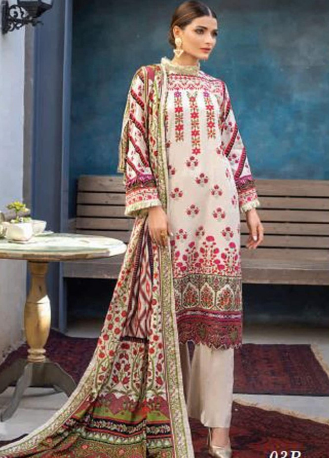 Colors by Al Zohaib Printed Lawn Unstitched 3 Piece Suit AZ20CL 03-B - Spring / Summer Collection