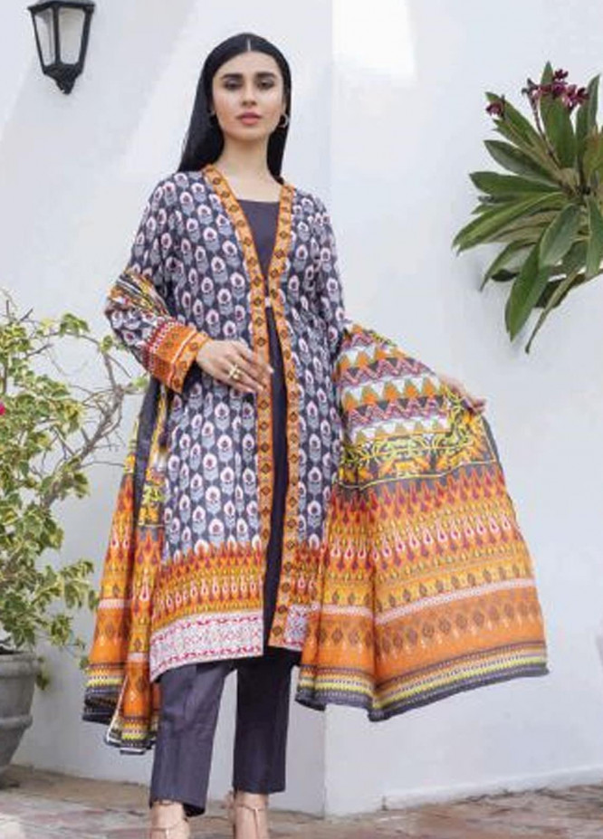 Colors by Al Zohaib Printed Lawn Unstitched 3 Piece Suit AZ20CL 07-A - Spring / Summer Collection