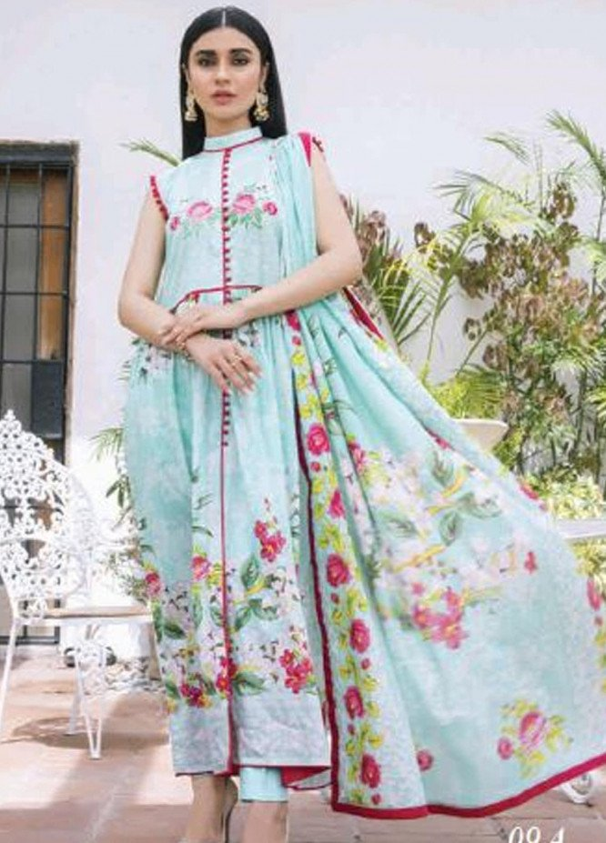 Colors by Al Zohaib Printed Lawn Unstitched 3 Piece Suit AZ20CL 09-A - Spring / Summer Collection