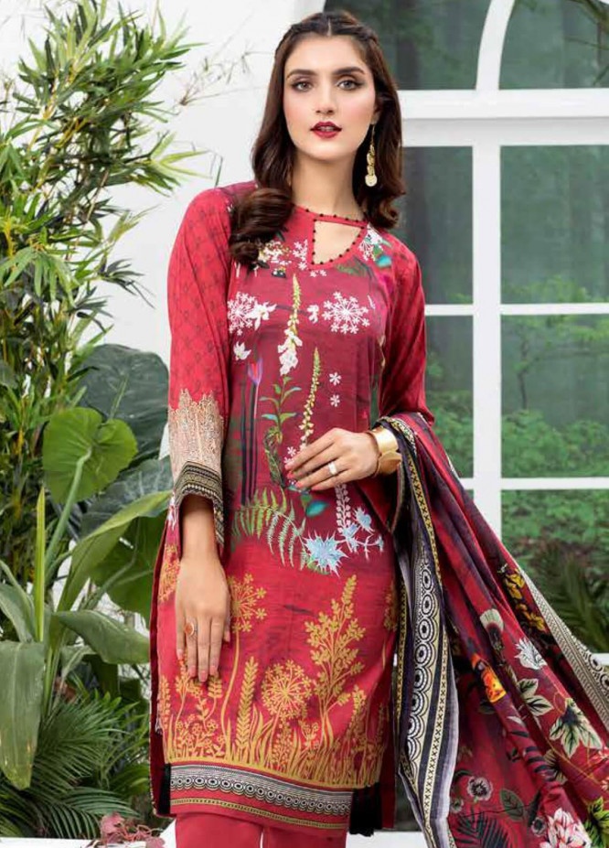 Colors by Al Zohaib Printed Lawn Unstitched 3 Piece Suit C20AZ 13A - Summer Collection