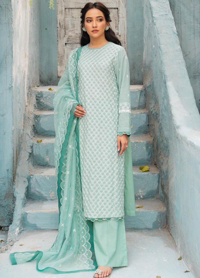 Mahiri By Cross Stitch Embroidered Lawn Suits Unstitched 3 Piece CS21M 04 Icy Gloire - Summer Collection