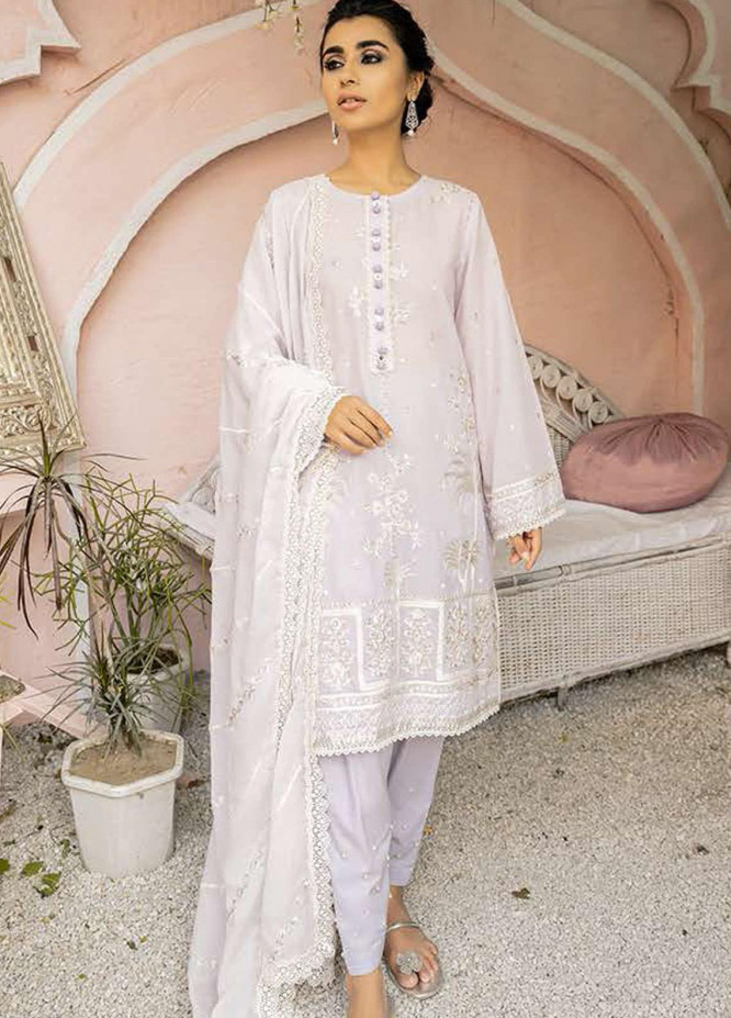Mahiri By Cross Stitch Embroidered Lawn Suits Unstitched 3 Piece CS21-M2 05 Burnished Light - Summer Collection