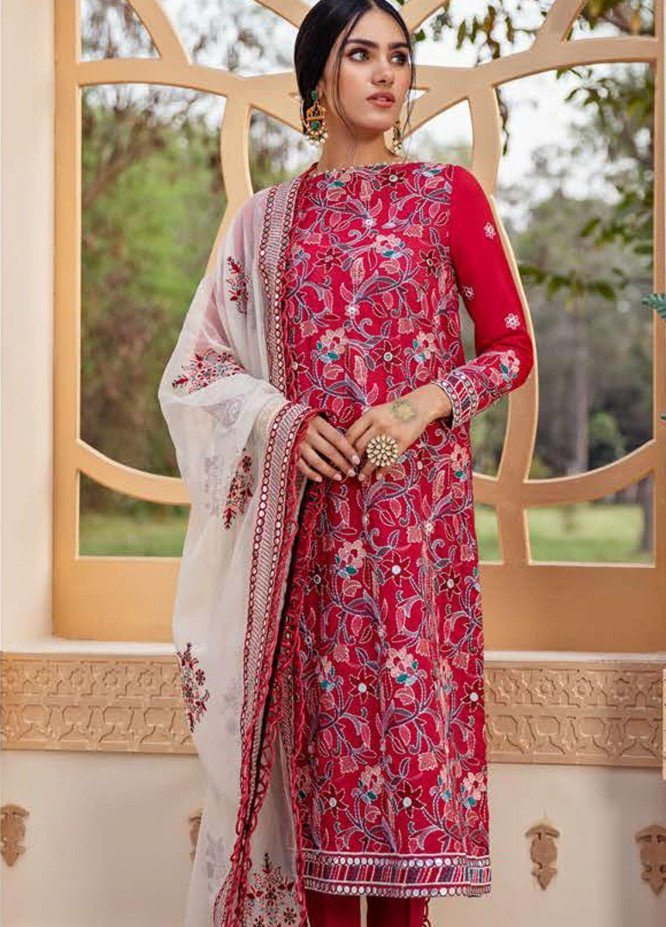 Cross Stitch Embroidered Lawn Suits Unstitched 3 Piece CS21SU 06-ETHNIC VINE - Luxury Collection