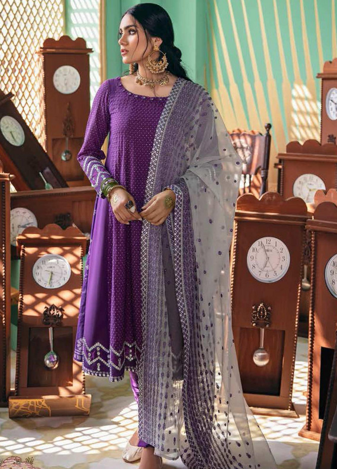 Cross Stitch Embroidered Lawn Suits Unstitched 3 Piece CS21SU 09-SPECULUM SAGE - Luxury Collection