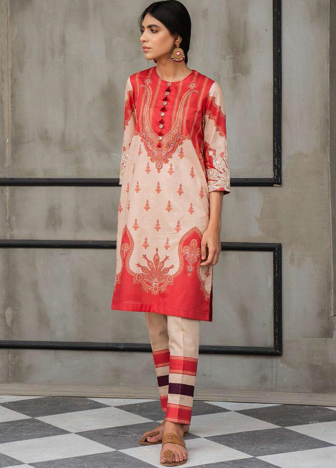 Cross Stitch Embroidered Lawn Suits Unstitched 2 Piece CS21SE D-15 RUSTIC AFFAIR - Summer Collection