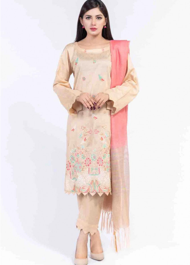 Cyan Embroidered Lawn Suits Unstitched 3 Piece CN21LJ CY-025 - Summer Collection
