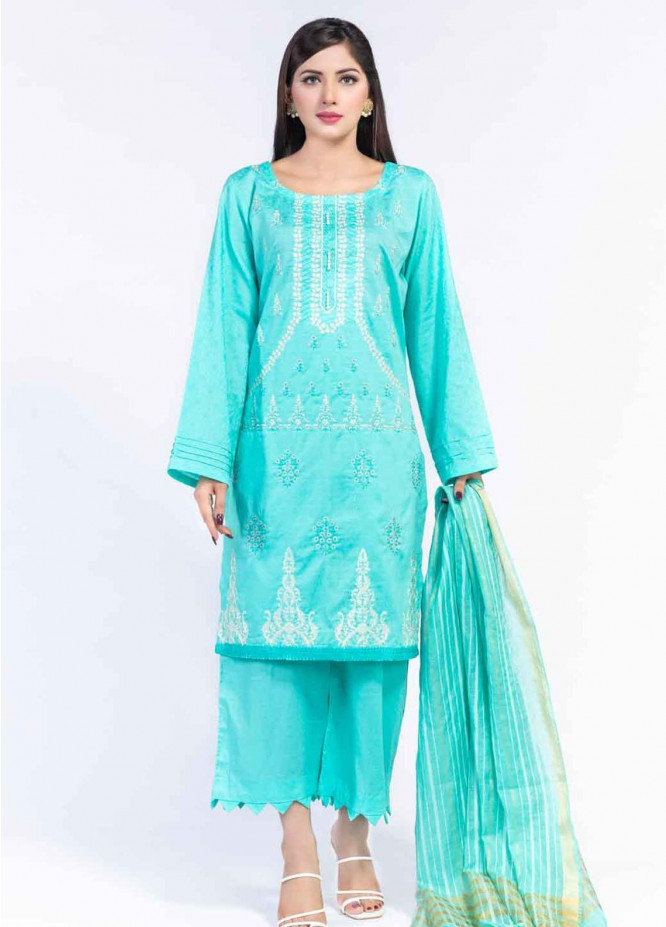 Cyan Embroidered Lawn Suits Unstitched 3 Piece CN21LJ CY-026 - Summer Collection