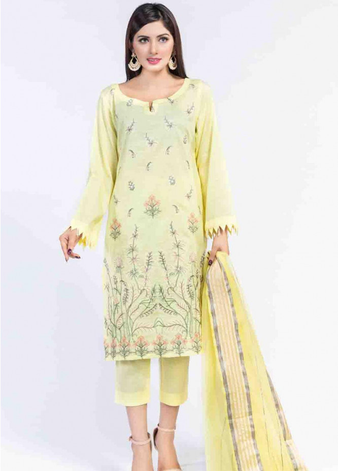 Cyan Embroidered Lawn Suits Unstitched 3 Piece CN21LJ CY-029 - Summer Collection