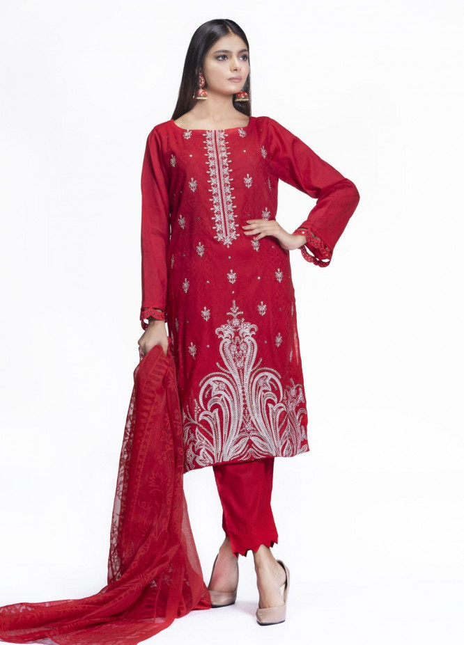 Cyan Embroidered Lawn Suits Unstitched 3 Piece CN21L D-008 - Summer Collection