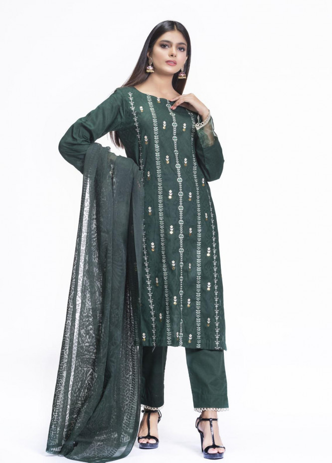 Cyan Embroidered Lawn Suits Unstitched 3 Piece CN21L D-010 - Summer Collection