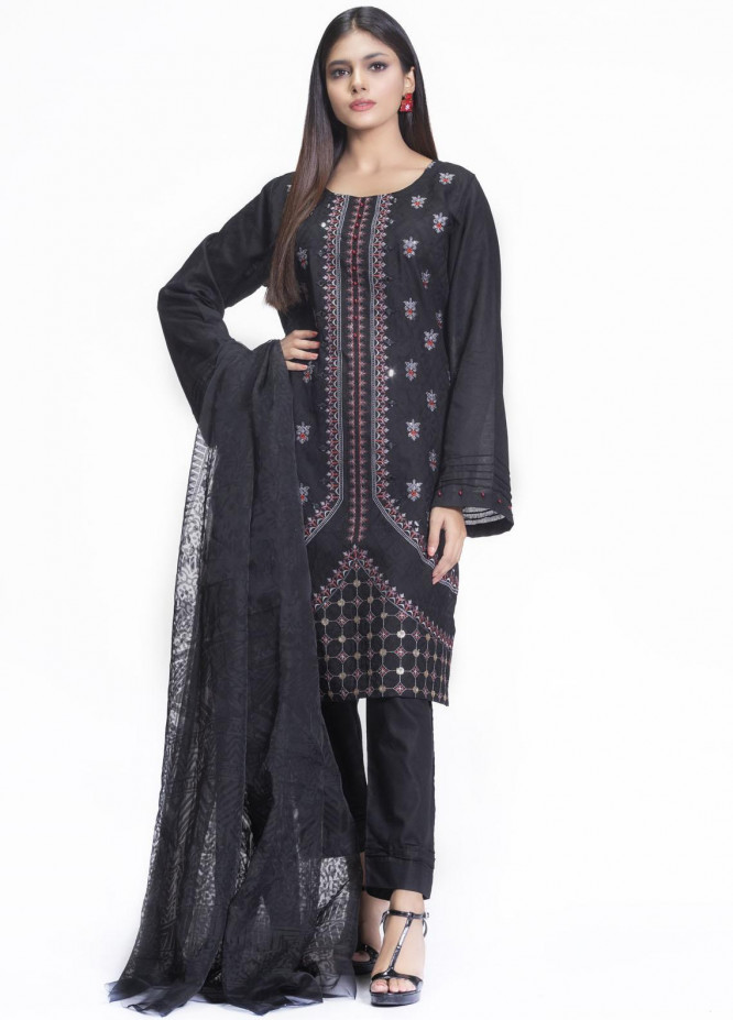Cyan Embroidered Lawn Suits Unstitched 3 Piece CN21L D-011 - Summer Collection