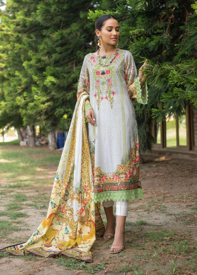 Dastak by Afsaneh Embroidered Lawn Suits Unstitched 3 Piece AFH21D Eleena A - Summer Collection