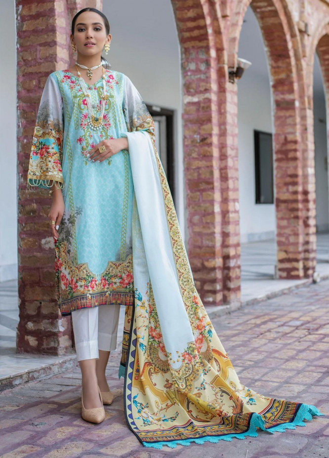 Dastak by Afsaneh Embroidered Lawn Suits Unstitched 3 Piece AFH21D Eleena B - Summer Collection
