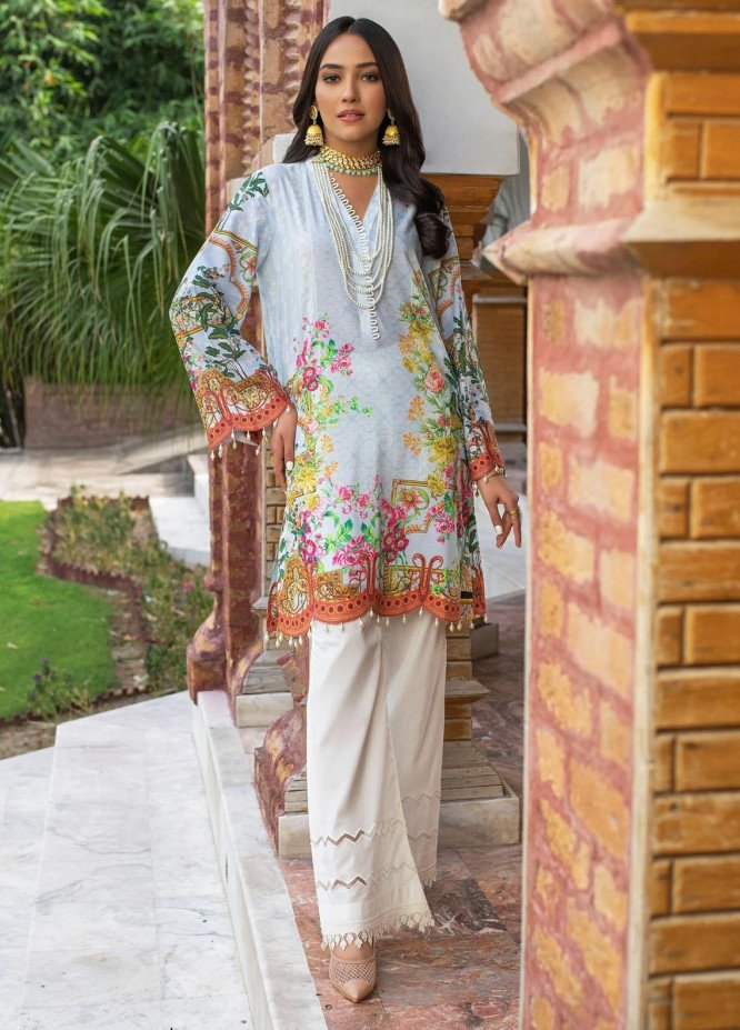 Dastak by Afsaneh Embroidered Lawn Suits Unstitched 2 Piece AFH21D Noorie A - Summer Collection