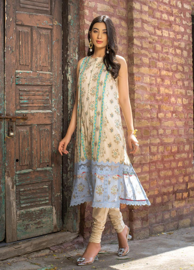 Dastak by Afsaneh Embroidered Lawn Suits Unstitched 2 Piece AFH21D Riwayat A - Summer Collection