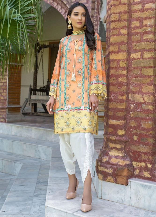 Dastak by Afsaneh Embroidered Lawn Suits Unstitched 2 Piece AFH21D Riwayat B - Summer Collection