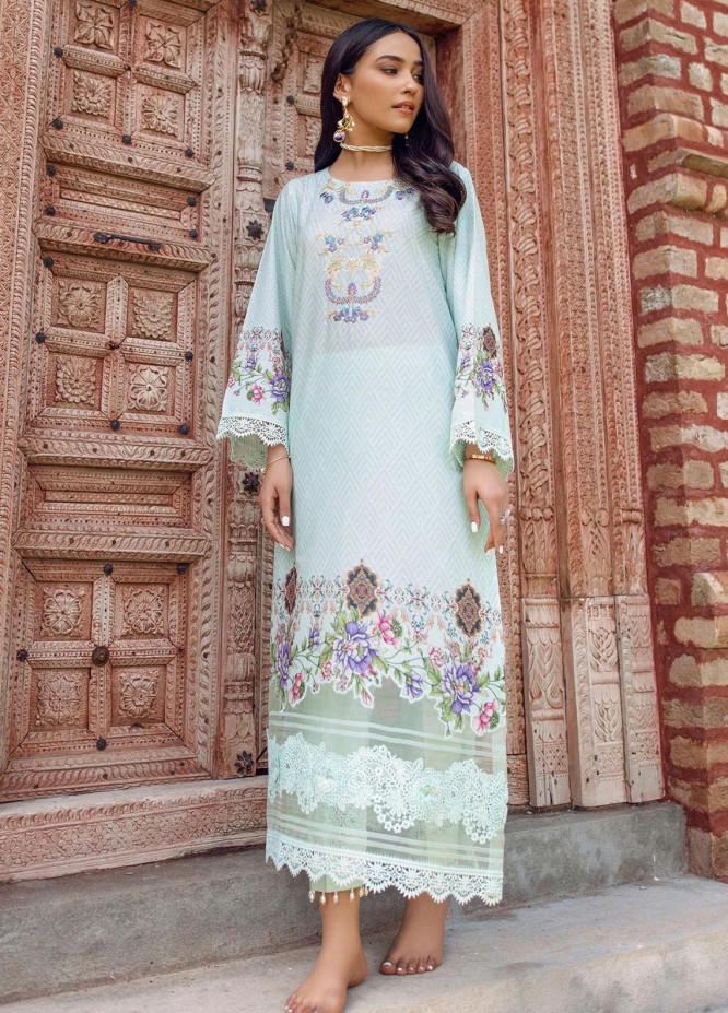 Dastak by Afsaneh Embroidered Lawn Suits Unstitched 2 Piece AFH21D Vasl B - Summer Collection