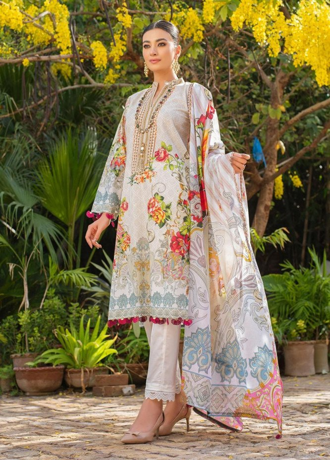 Dastak by Afsaneh Embroidered Lawn Suits Unstitched 2 Piece AFH21D Zimal A - Summer Collection