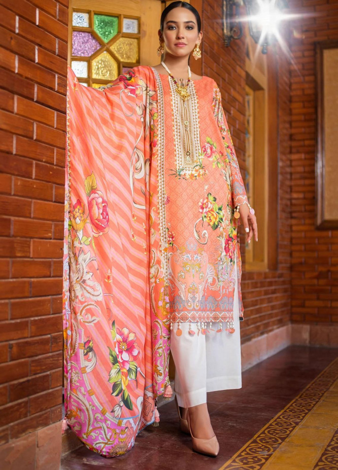 Dastak by Afsaneh Embroidered Lawn Suits Unstitched 2 Piece AFH21D Zimal B - Summer Collection