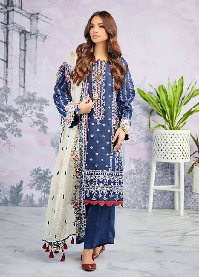 Dhanak Embroidered Organza Suits Unstitched 3 Piece DU-3072 - Luxury Collection