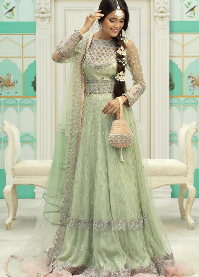 Zaaviay Luxury Pret Embroidered Net 3 Piece Dress NAAZ