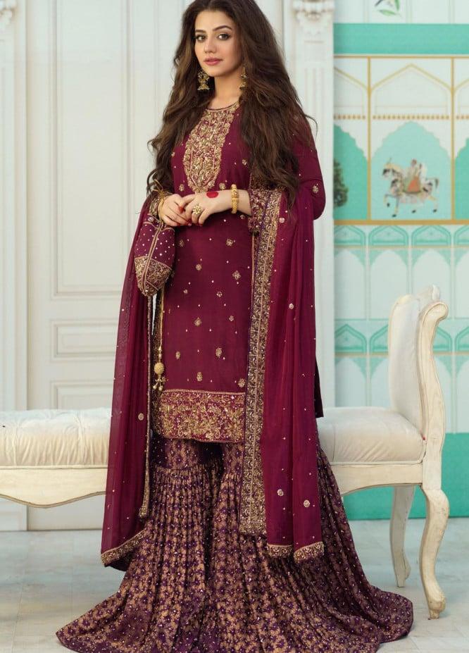Zaaviay Luxury Pret Embroidered Raw Silk 3 Piece Dress ZOHRA JABEEN