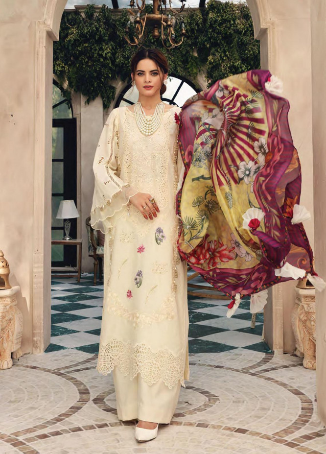 Elaf Embroidered Lawn Suits Unstitched 3 Piece EL21FC 10 Tabshearts - Luxury Collection