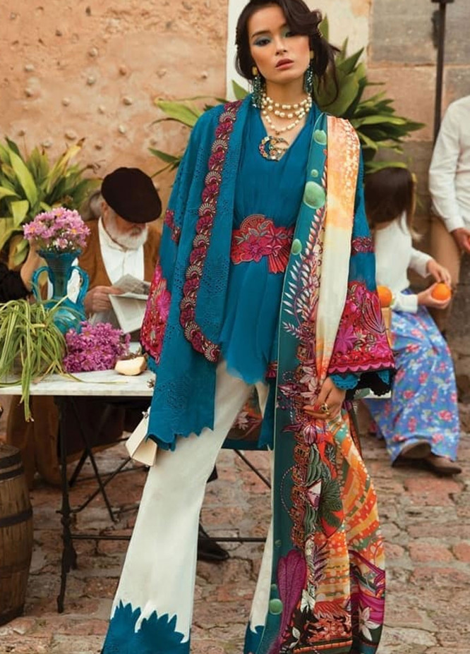 Elan Embroidered Lawn Unstitched 3 Piece Suit EL19L 7A MARIPOSA - Spring / Summer Collection
