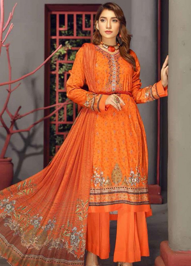 Fabura by Sanam Saeed Embroidered Cottel Unstitched 3 Piece Suit SS2CT 08 - Winter Collection
