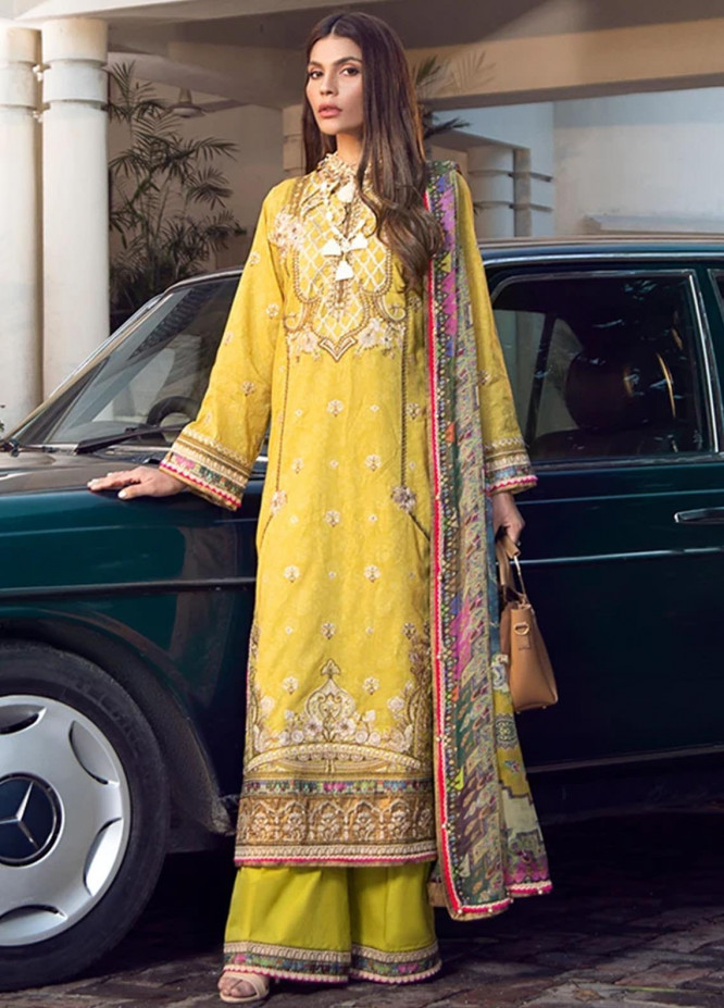 Fahad Hussayn Embroidered Lawn Suits Unstitched 3 Piece FH21SE D-05 - Luxury Collection