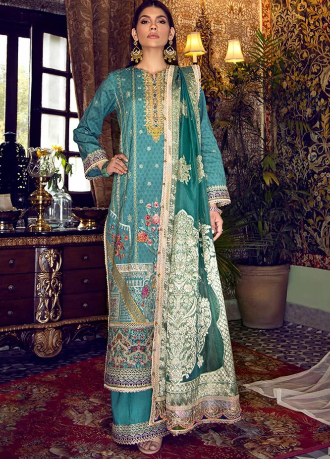 Fahad Hussayn Embroidered Lawn Suits Unstitched 3 Piece FH21SE D-07 - Luxury Collection