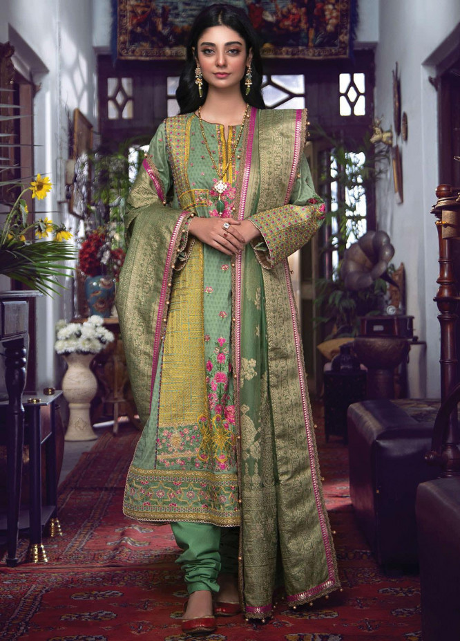 Fahad Hussayn Embroidered Lawn Suits Unstitched 3 Piece FH21SE D-08 - Luxury Collection