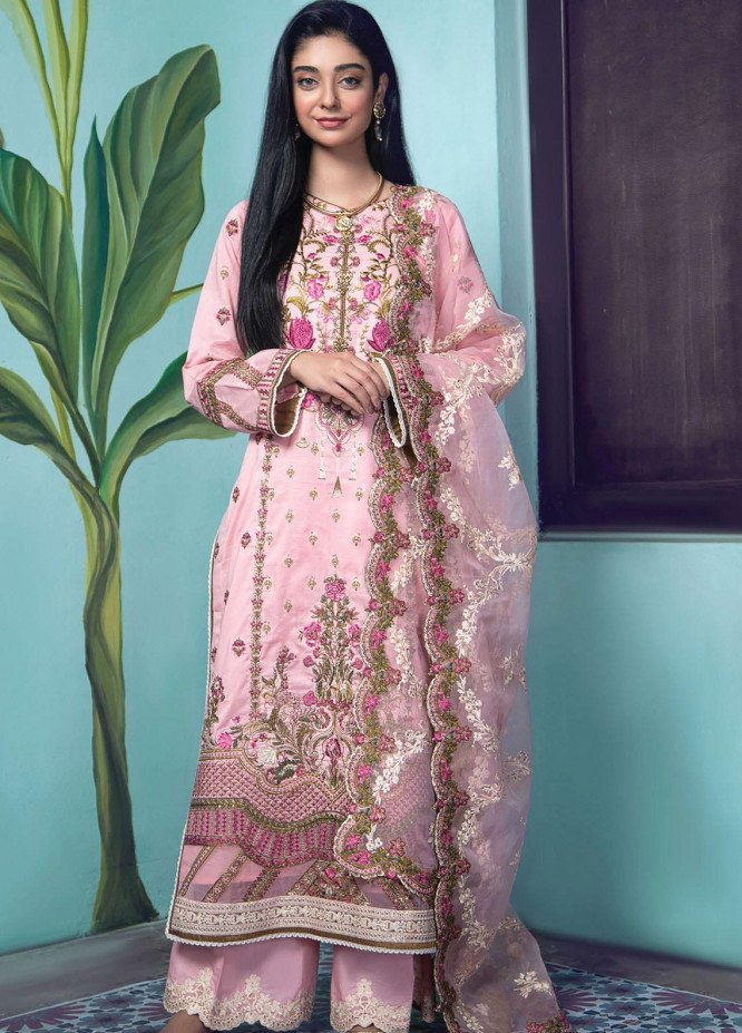 Fahad Hussayn Embroidered Lawn Suits Unstitched 3 Piece FH21SE D-10 - Luxury Collection