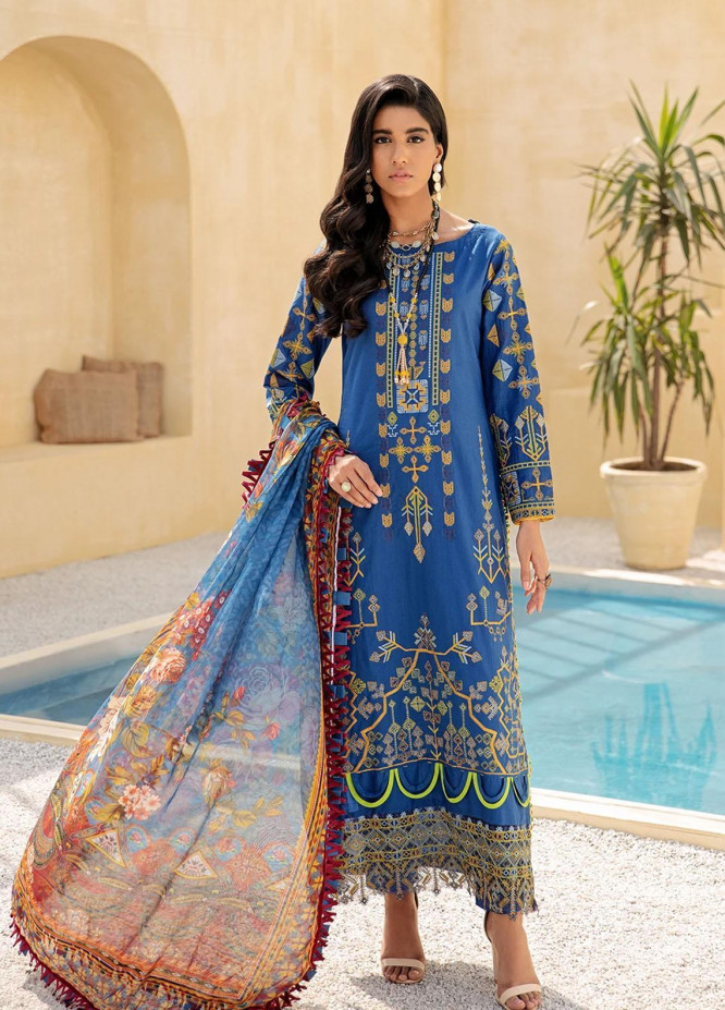 Faixa Faixal By Ittehad Textiles Embroidered Lawn Suits Unstitched 3 Piece ITD21FF DILARA - Summer Collection