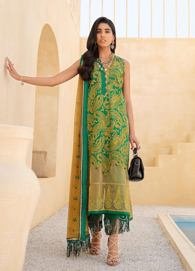 Faixa Faixal By Ittehad Textiles Embroidered Lawn Suits Unstitched 3 Piece ITD21FF EESHAL - Summer Collection