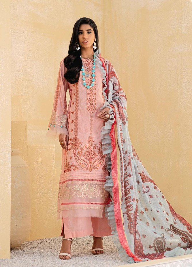 Faixa Faixal By Ittehad Textiles Embroidered Lawn Suits Unstitched 3 Piece ITD21FF SEEMAB - Summer Collection