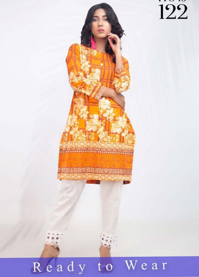 Fateh Printed Cambric Stitched Kurtis FT20PDF D-122