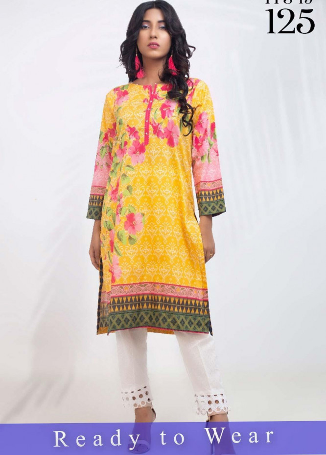 Fateh Printed Cambric Stitched Kurtis FT20PDF D-125