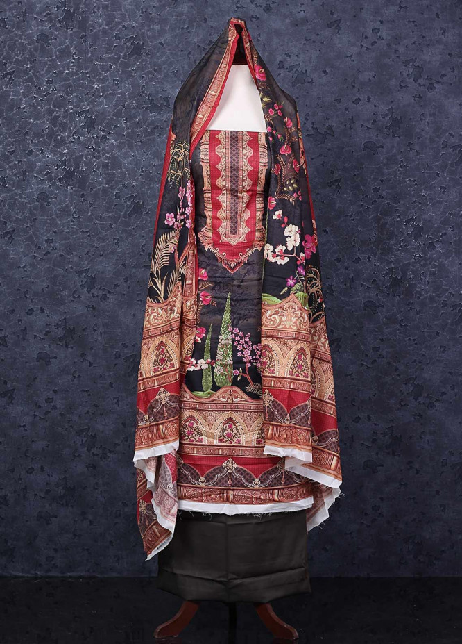 Firdous Fashion Printed Lawn Unstitched 3 Piece Suit FR20D 1101B - Spring / Summer Collection