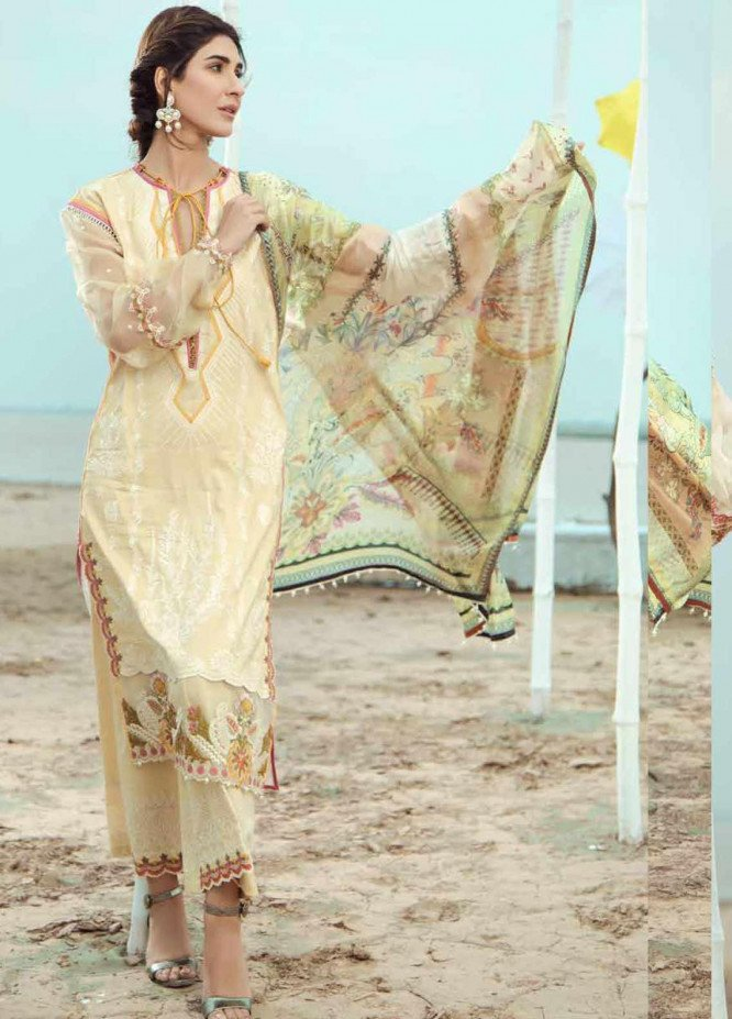 Firdous Fashion Embroidered Lawn Unstitched 3 Piece Suit FR20LS 19539 - Luxury Collection