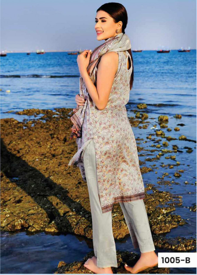 Five Star Printed Lawn Unstitched 3 Piece Suit FS20C 1005B - Spring / Summer Collection