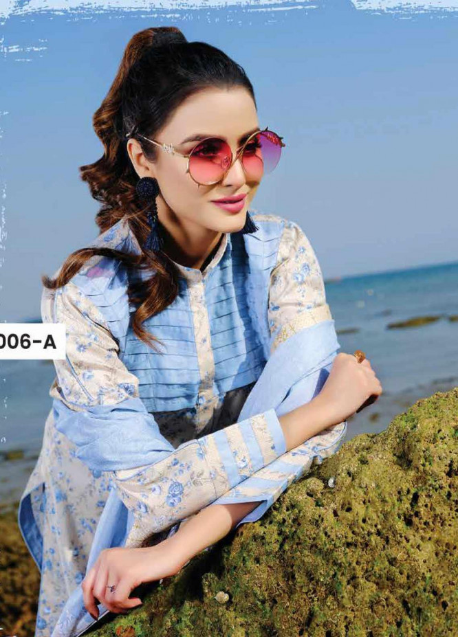 Five Star Printed Lawn Unstitched 3 Piece Suit FS20C 1006A - Spring / Summer Collection