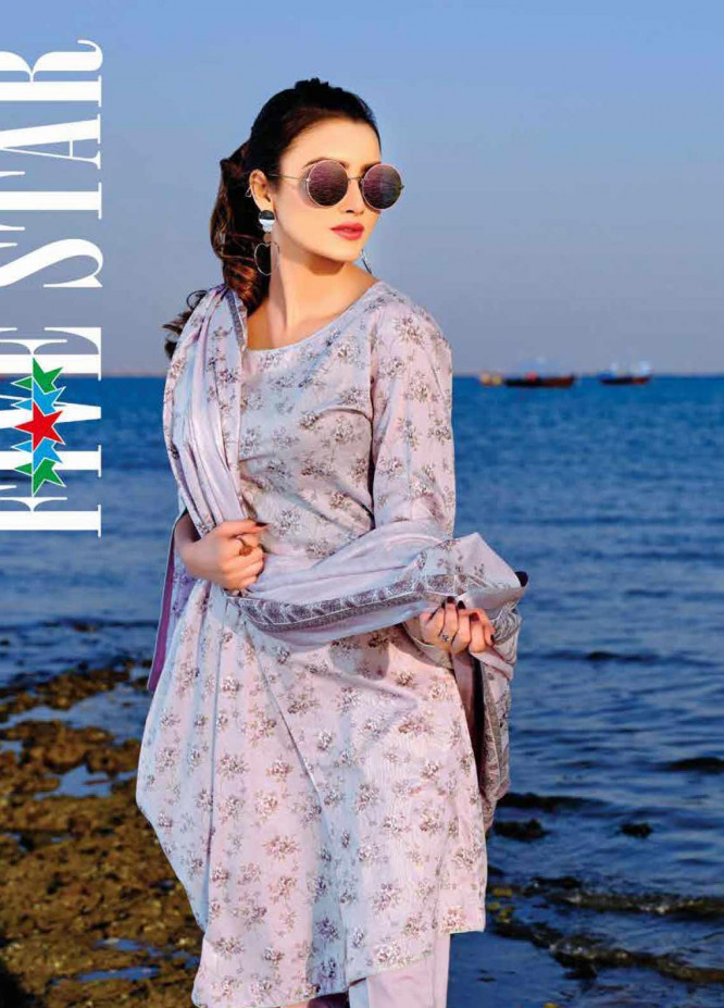 Five Star Printed Lawn Unstitched 3 Piece Suit FS20C 1008A - Spring / Summer Collection