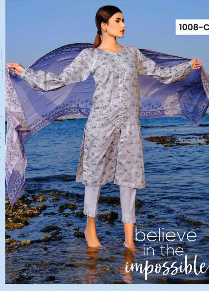 Five Star Printed Lawn Unstitched 3 Piece Suit FS20C 1008C - Spring / Summer Collection