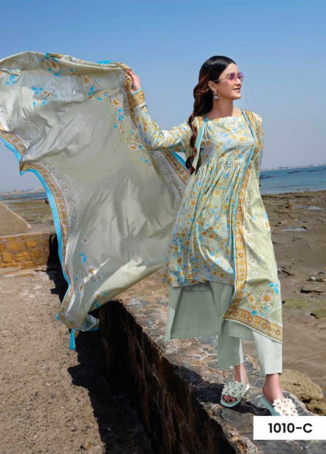 Five Star Printed Lawn Unstitched 3 Piece Suit FS20C 1010C - Spring / Summer Collection