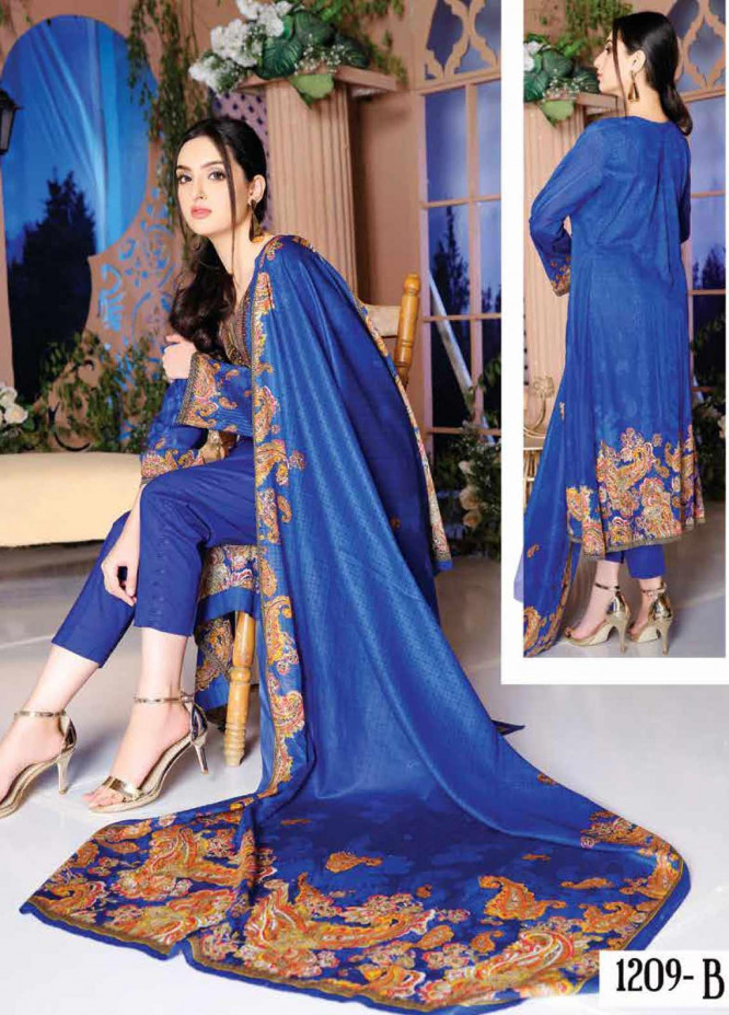 Five Star Printed Lawn Unstitched 3 Piece Suit FS20CL-1 1209B - Spring / Summer Collection