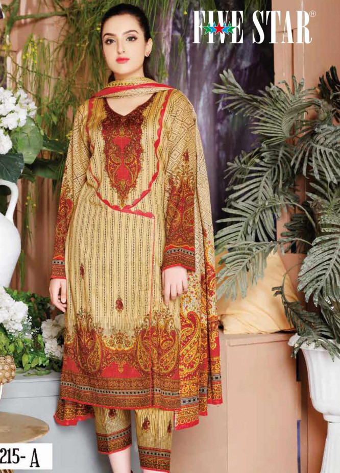 Five Star Printed Lawn Unstitched 3 Piece Suit FS20CL-1 1215A - Spring / Summer Collection