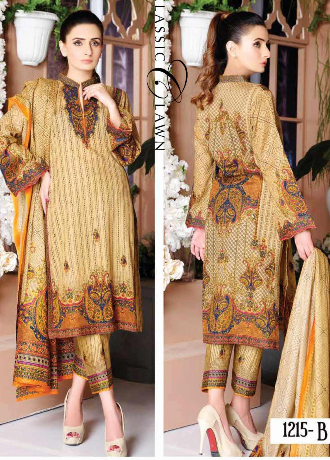 Five Star Printed Lawn Unstitched 3 Piece Suit FS20CL-1 1215B - Spring / Summer Collection