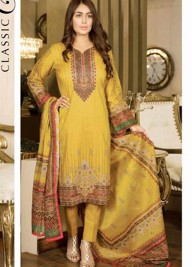 Five Star Printed Lawn Unstitched 3 Piece Suit FS20CL 1229B - Spring / Summer Collection