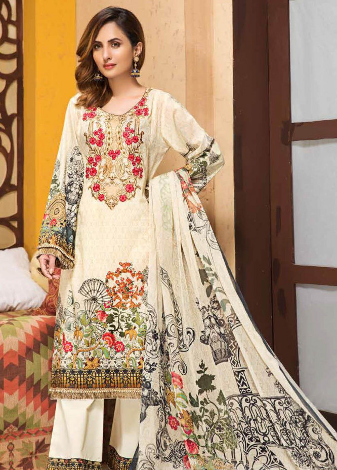 Florence by Mohagni Embroidered Lawn Unstitched 3 Piece Suit MO20F SLE 06 - Spring / Summer Collection